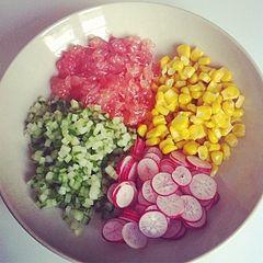 porcinette's Blog:レシピ / キヌアのグレープフルーツサラダ