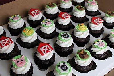 cute farm animal cupcakes (Emily's Delights)
