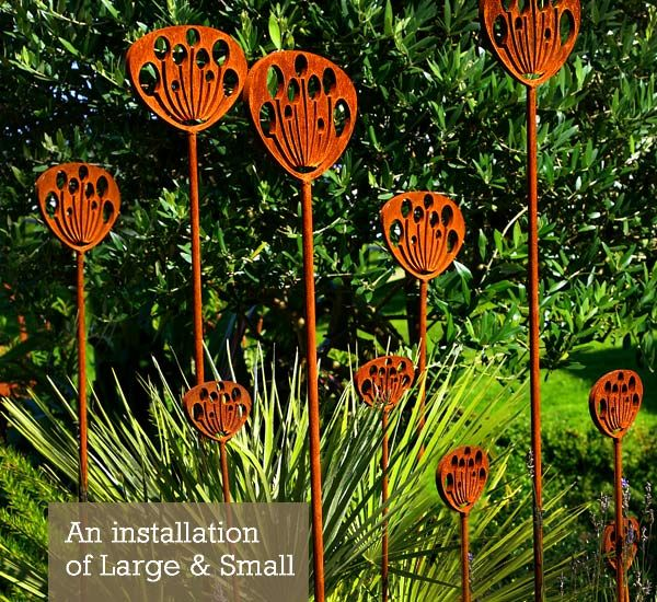 Contemporary Garden Sculptures Inspired By The Cow Parsleys Seed Head, This Garden  Sculptures Makes An
