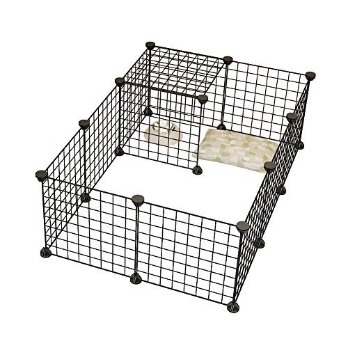 Dog Playpen By KOUSI Portable Large Metal Wire Yard Fence.