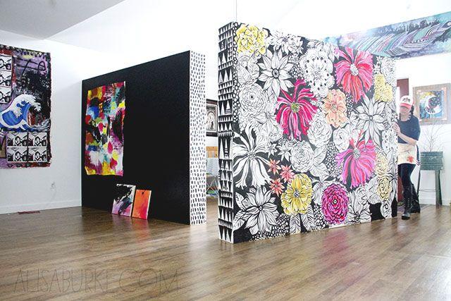 alisaburke- moveable walls for my art studio
