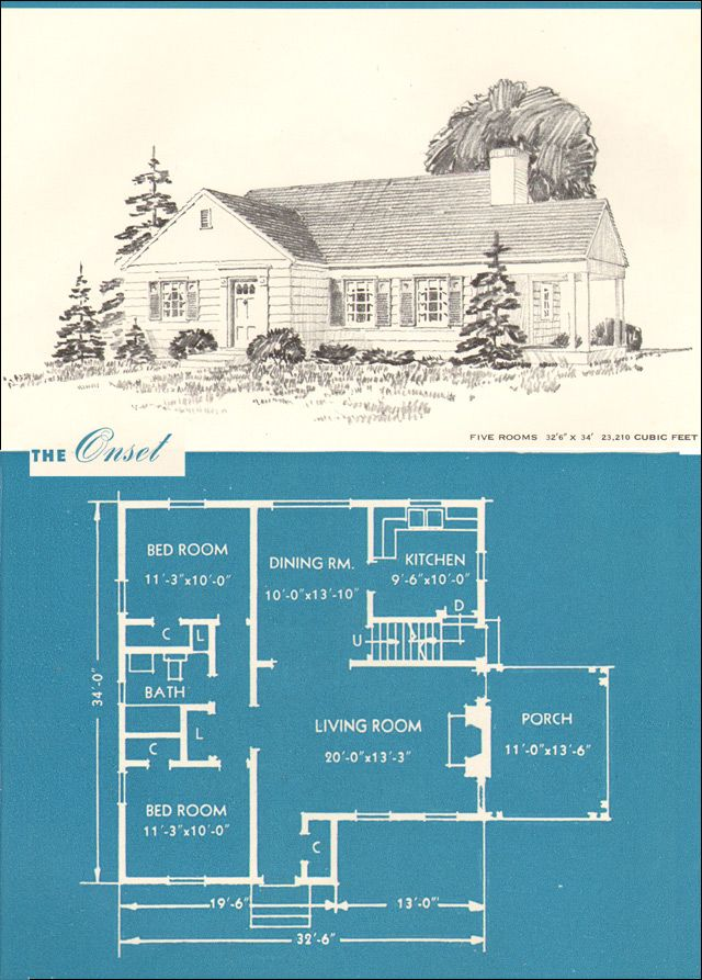 1945 Onset Minimal Traditional Classic New Era Houses By Brown Blodgett Co Vintage House