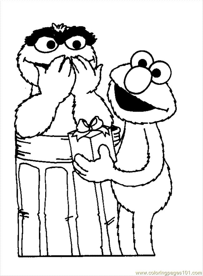 62 best coloring pages images on pinterest coloring for Coloring pages elmo cookie monster