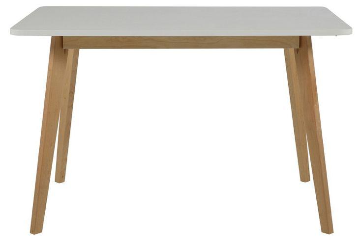 Clara Spisebord - Spisebord m. hvid bordplade og ben i birk
