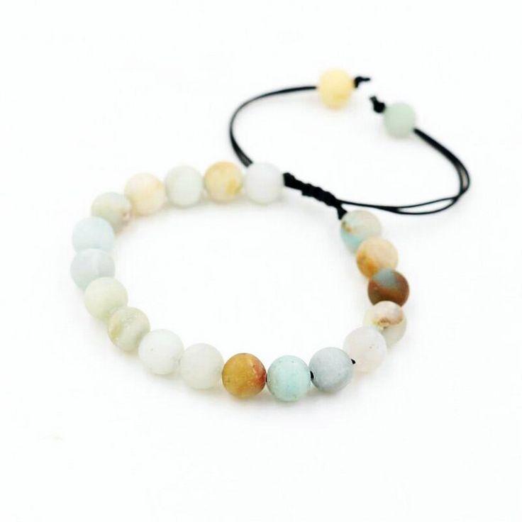 Bppccr natural amazonite stone strand braid bracelet men women couples lucky wis…   – Products