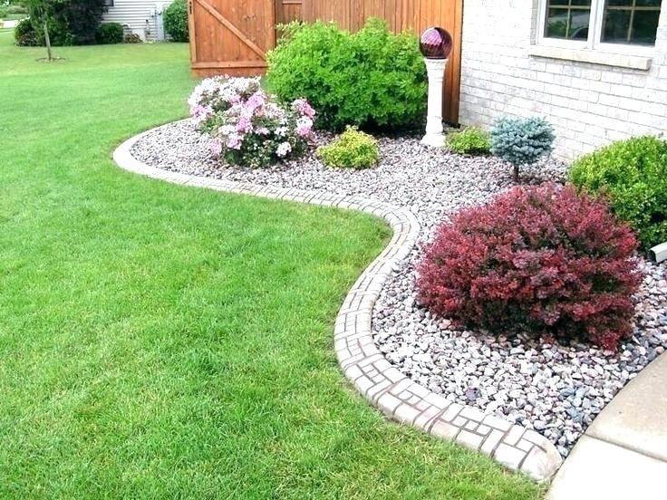 Easy Garden Ideas Along Fence Line Google Search Rock Garden Landscaping Landscaping With Rocks Front Yard Garden
