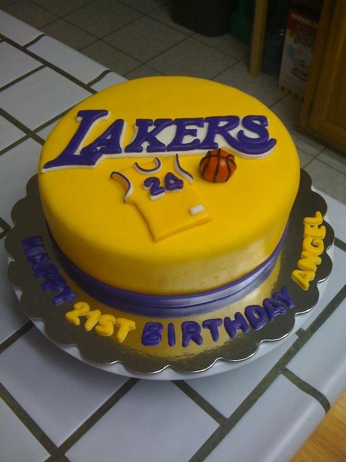 Geschenk Geburt La Lakers Cakes Bryant Cake For Fareshteh Backen