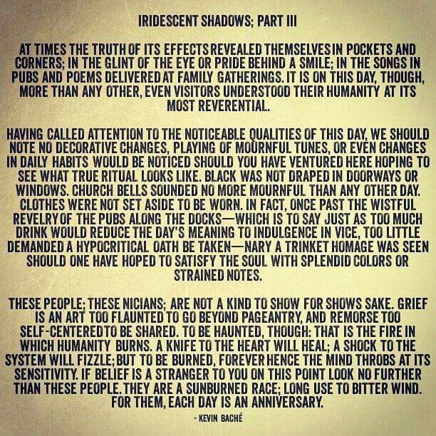 """""""IRIDESCENT SHADOWS; Part III,"""" by Kevin Baché #iridescentshadow #iridescentshadows #KevinBaché #story #stories #island #water #memory #book #books #novel #novels #country #history #quote #quotes"""