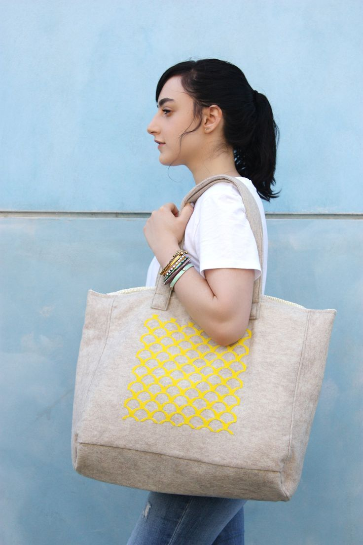 Yellow diaper bag, Weekend travel bag, Nappy bag, Baby changing bag, Carry on handbag, Beige handbag, Spring handbag, Shopping market bag