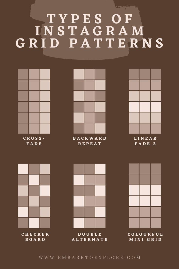 TYPES OF INSTAGRAM GRID PATTERNS in 2020 Instagram feed