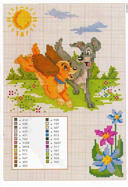 Lady the Tramp cross stitch