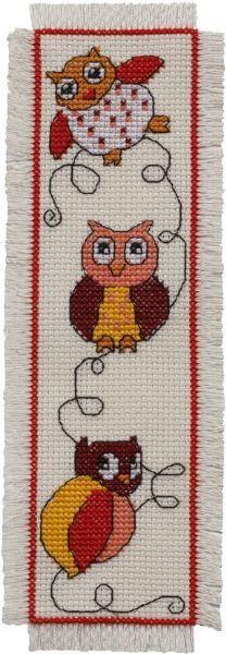 Marque-page Owl de Permin of Copenhagen - Autres Collections - Kit Broderie - Casa Cenina