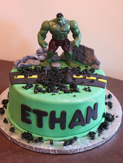 Hulk cake. Hulk is my HERO