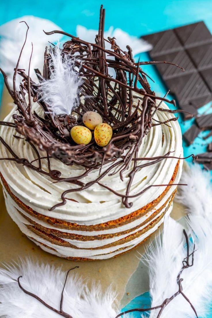 Pääsiäiskakku // Bird Nest Easter Cake Food & Style Antti Lumiainen & Mika Rampa Photo Mika Rampa, Perinneruokaa prkl www.maku.fi