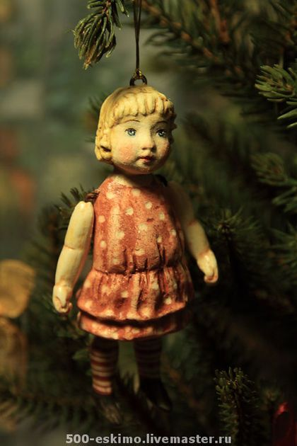 Ёлочная игрушка маленькая девочка
