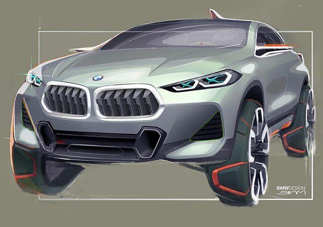 BMW X2 Concept sketch by Sebastian Simm #cardesign #carsketch #car #design #sketch #bmw #bmwx2 #conceptcar #drawing #cardesigner #bmwclub #vehicledesign #transportdesign
