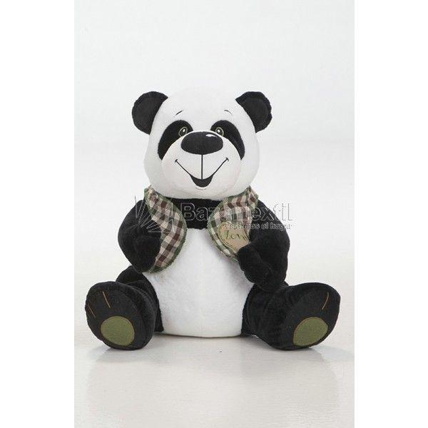 Peluche Panda Ojos Verdes Chaleco