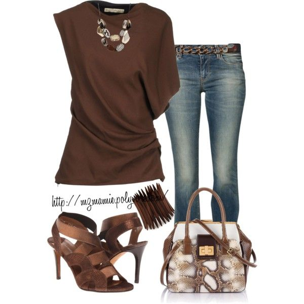 A fashion look from March 2013 featuring Balenciaga tops, GUESS jeans and  Donald J Pliner
