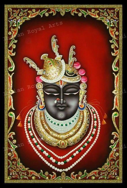Paintings of India - Tanjore Art - SriNath Ji