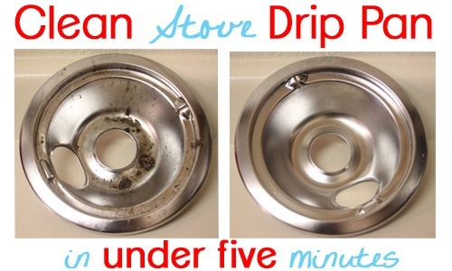 Clean a Stove drip pan in 5 minutes