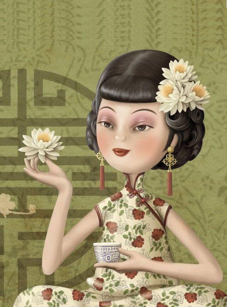 Ecran de veille pour bokeen Art de Nina De San :  https://nl.pinterest.com/giselevergaert