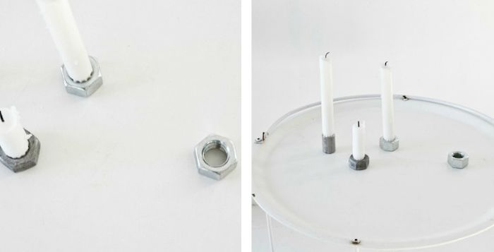 Low Cost, High Style: DIY Taper Candle Holders : Remodelista: High Style, Ideas For, Simple Ideas Inspiration, Diy Reuse Recycle, Candle Holders, Diy Taper Candles Holders, Curious Cat, Holders Diy, Crafts