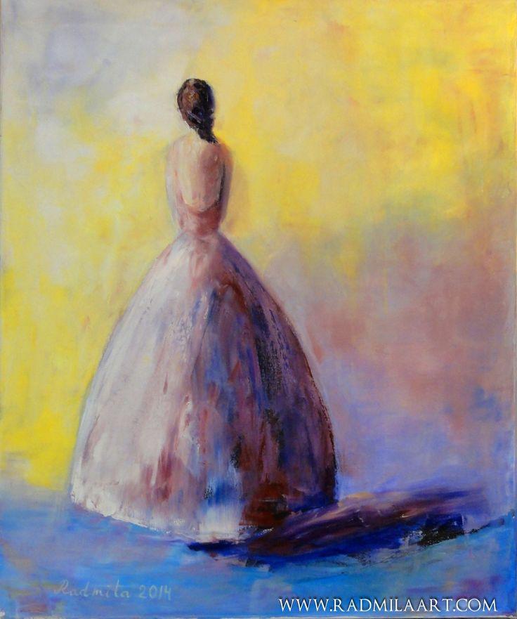 "Oil painting ""Ballerina"", 50*60 cm. Artist - Radmila Filimonova"