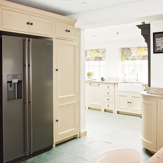 lots of cabinet space and a large fridge...absolute essentials. ('specially for a large family one day!)