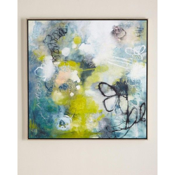 Handcrafted giclee on canvas. Brush-gel finish. Polystyrene float frame. Framed without glass. 48.25Sq. x 2D. D-rings for hanging. Made in the USA. Wei…