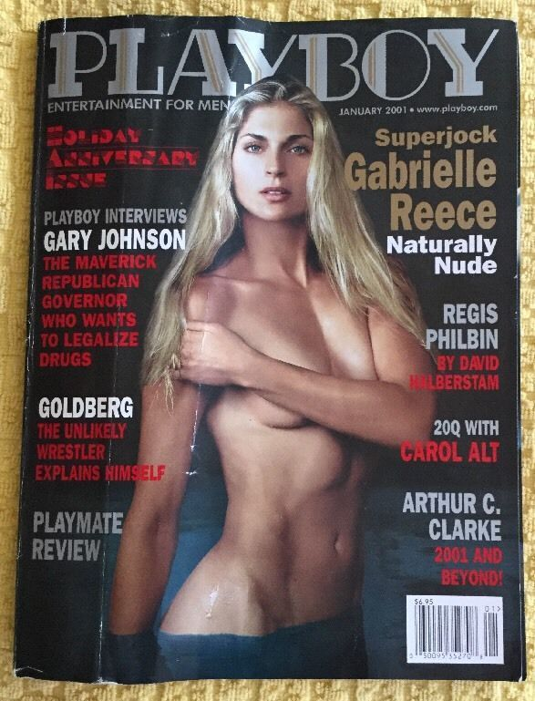PLAYBOY Magazine Jan 2001 REGIS PHILBIN GABRIELLE REECE! CAROL ALT SUPER MODEL  | eBay