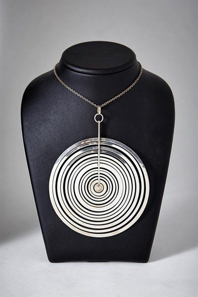 'Silver Moon' necklace c. Mid 20th century... by; Tapio Wrikkala, avail @ Atelier: Modernity