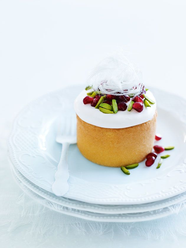 mini rosewater sponge cakes from donna hay: