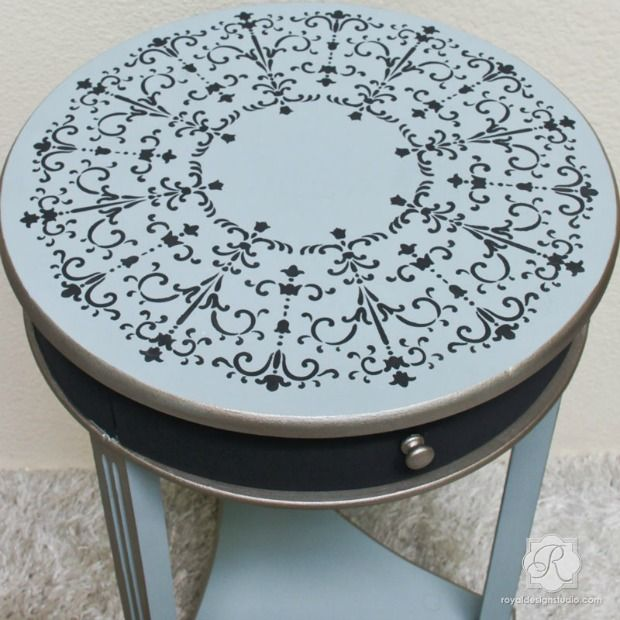 1000 images about stenciled and painted furniture on - Paint stencils for furniture ...
