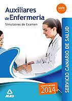 Compendio de SIMULACROS DE EXAMEN, que contiene 7 cuestionarios de 150 preguntas tipo test cada uno con 10 preguntas de reserva, según se recoge en el BOCAN n.º 106 de 04/06/2014, para la preparación de las pruebas selectivas de Auxiliares de Enfermería del Servicio Canario de Salud.