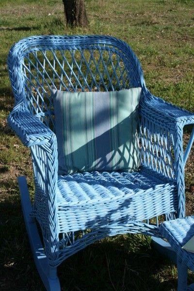 Wicker Rocking Chair | Hopeful Homemaker