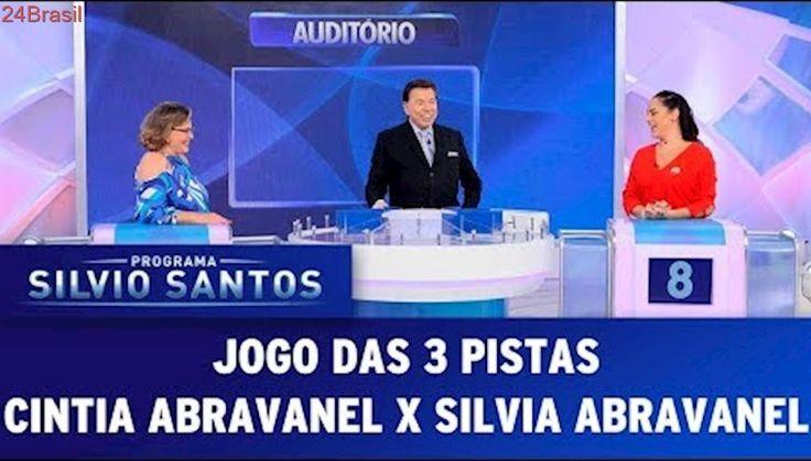 Jogo das 3 Pistas - Silvia Abravanel X Cintia Abravanel | Programa Silvio Santos (05/11/17)