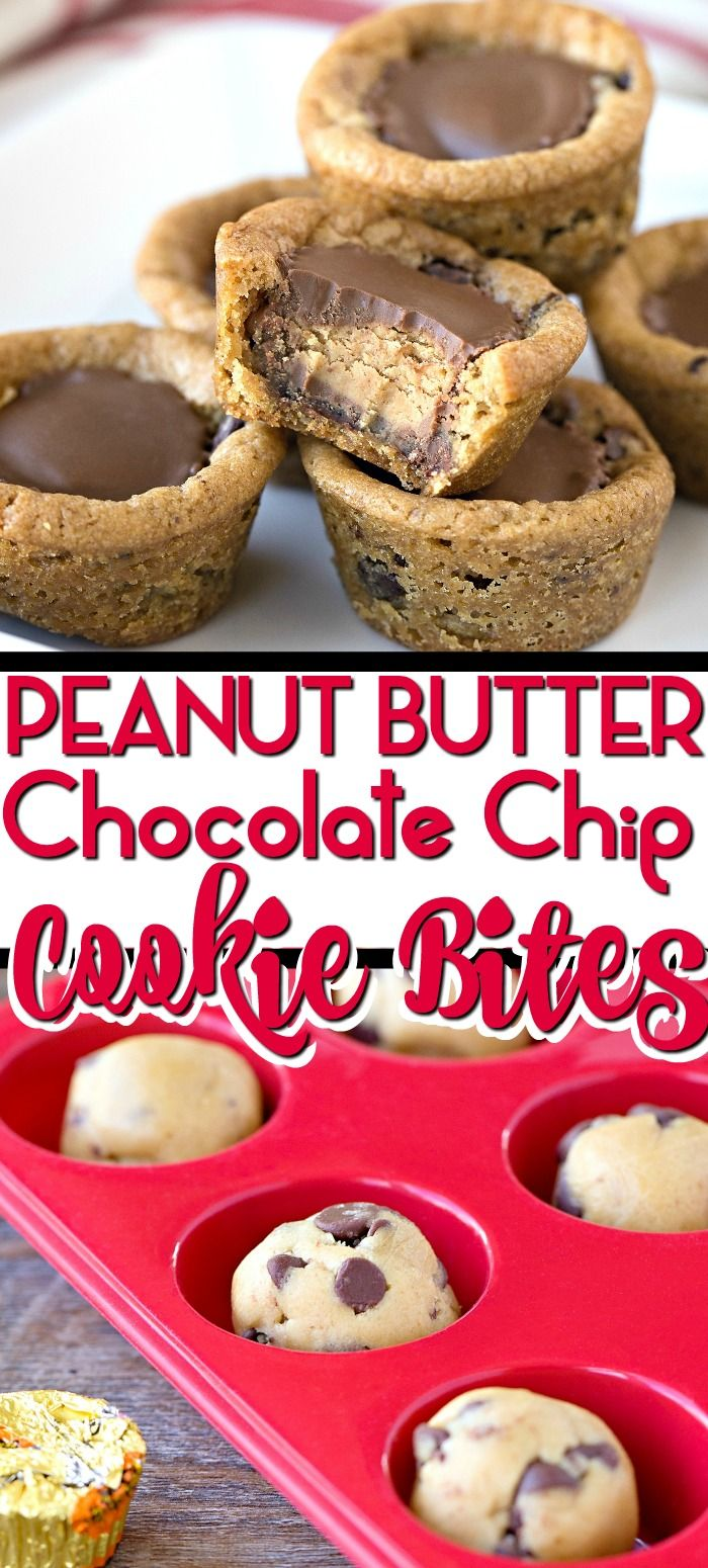 Reese's Peanut Butter Chocolate Chip Cookie Bites