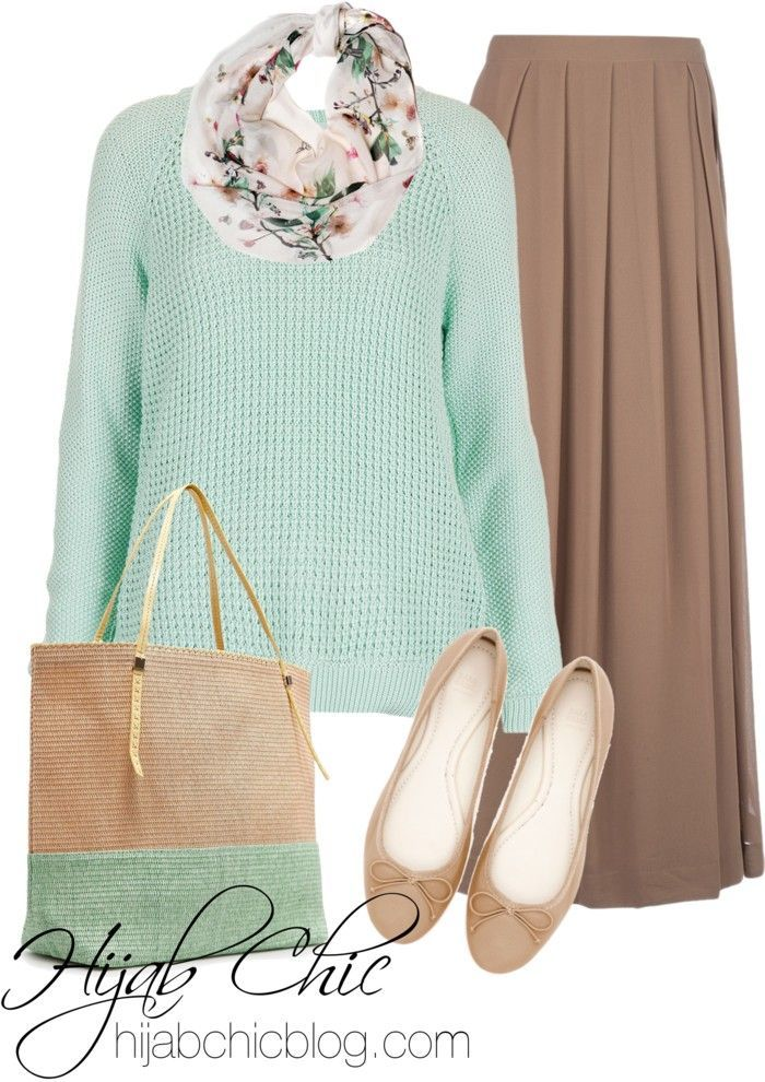 Hijab Fashion 2016/2017: Mint green top hijab style outfit comfortable and classy fashion.