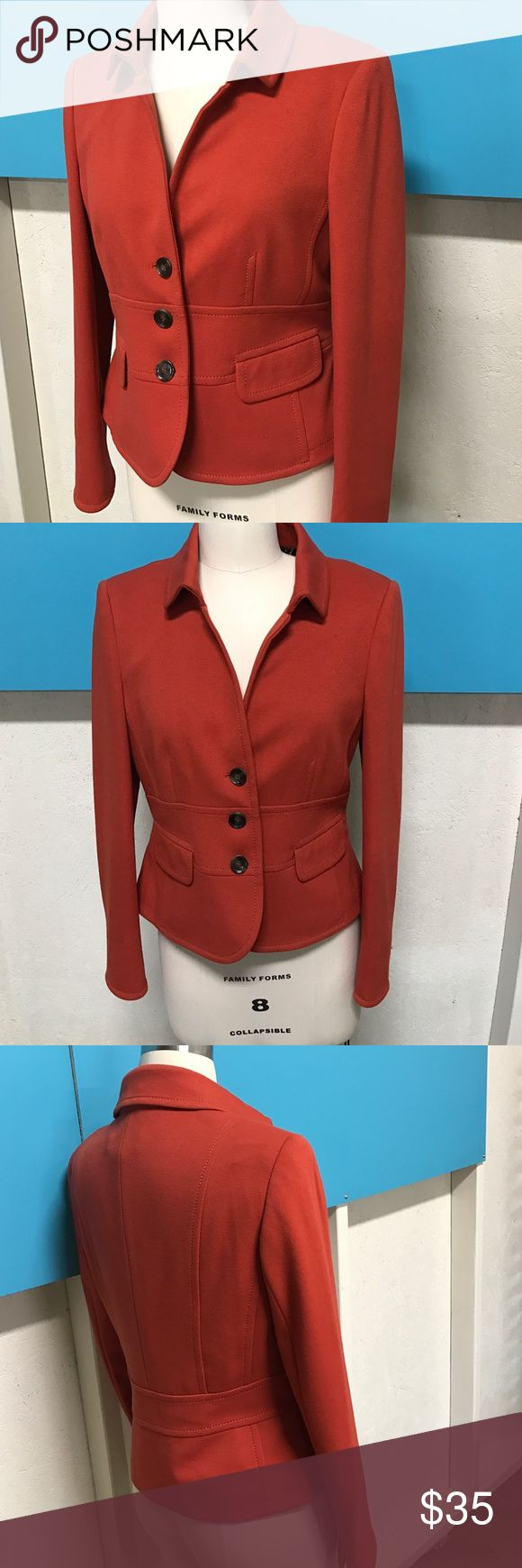 Gerry Weber women's blazer Knit blend women's blazer by Gerry Weber in a beautiful burnt orange color and lined with a brown cheetah print Gerry Weber Jackets & Coats Blazers