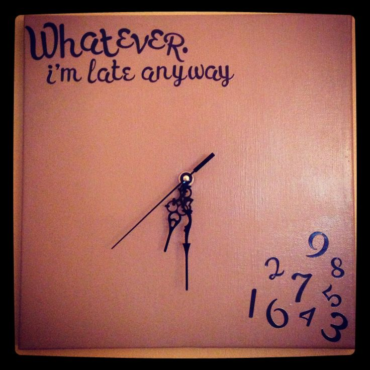Canvas clock :)