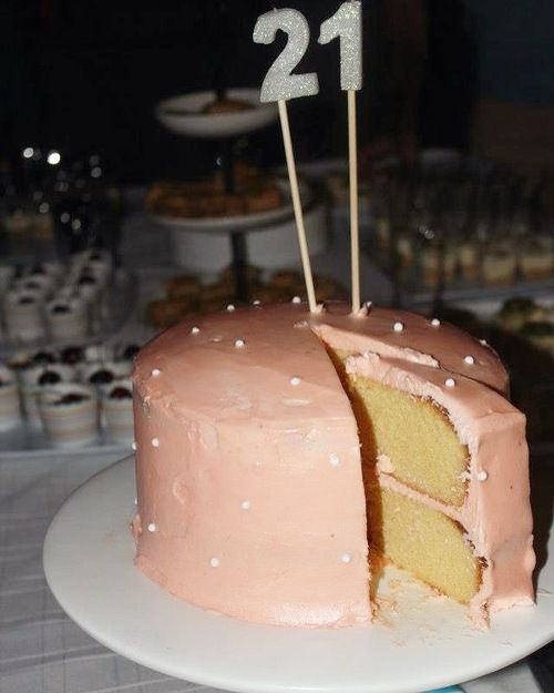 White chocolate mud cake with rose water icing