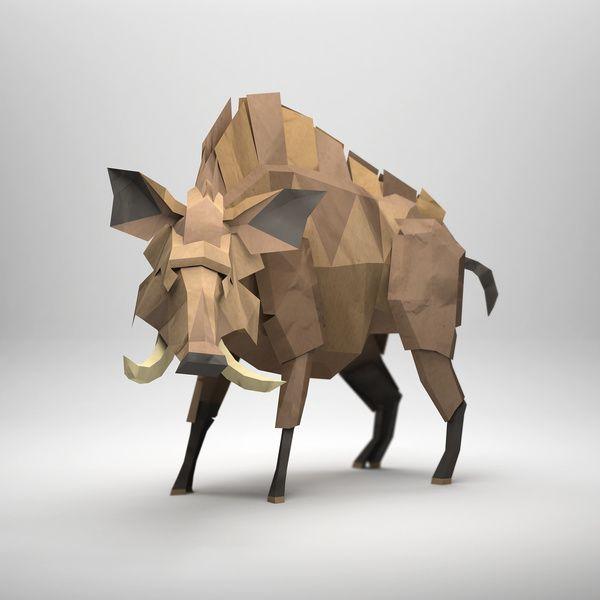 3D Digital Origami By Jeremy Kool Sketchbook IdeasPaper ArtPaper