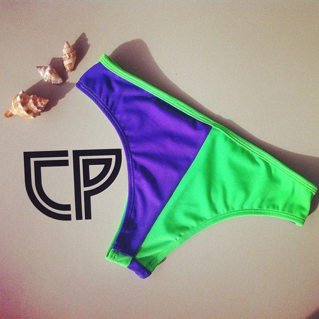 CP Purple / Green Yin Yang bottoms #underwear #swimwear