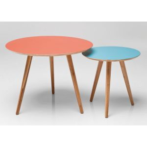 Set of 2 Roscoe Round Coffee Tables