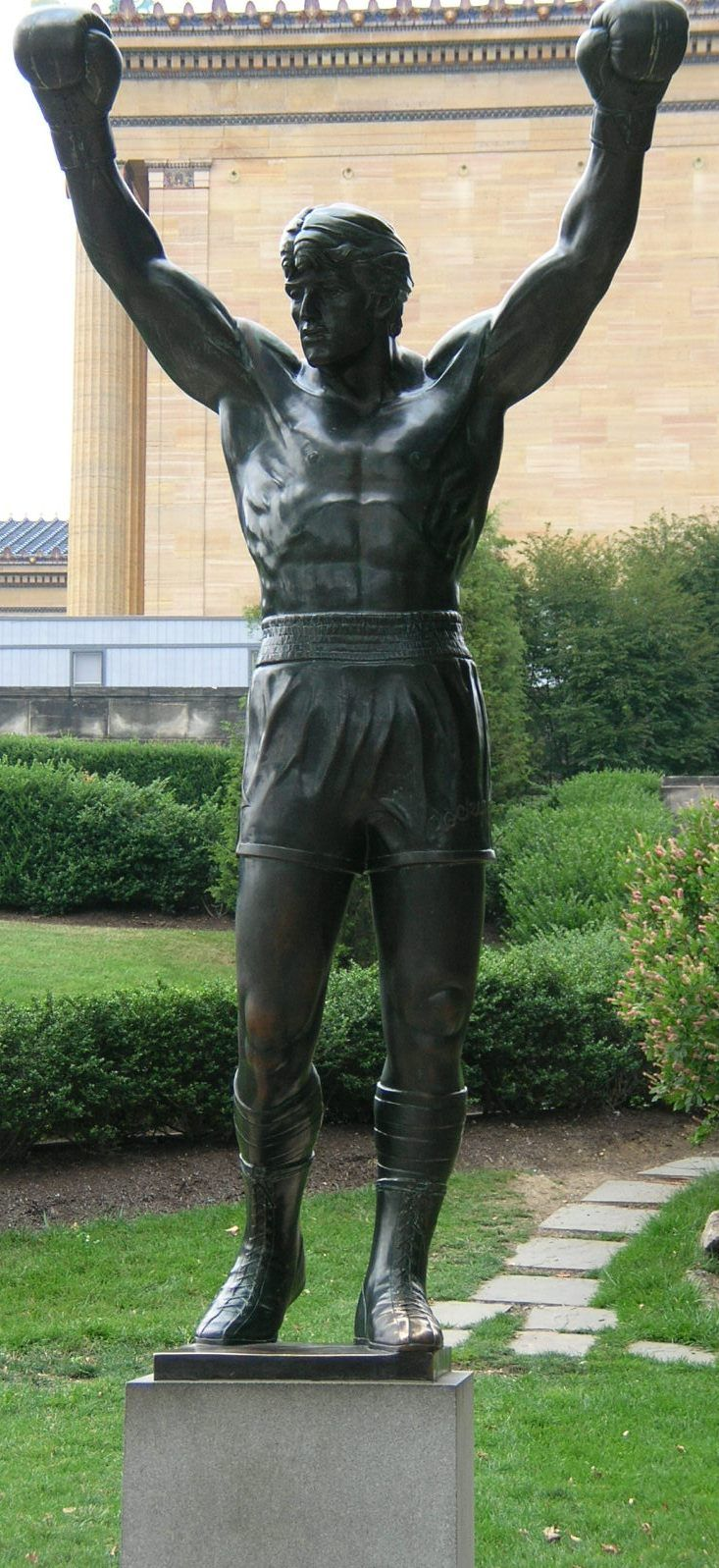 Rocky statue at the Philadelphia Museum of Art.  For those of you who don't know, this statue has been moved three times and almost went to the scrap yard because someone that was influential didn't think it was art.
