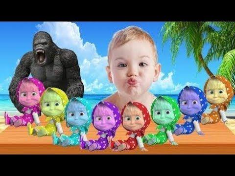 Mal Bebé Llorando Aprender Colores Con Masha Y El Oso Para Niños Niños D...