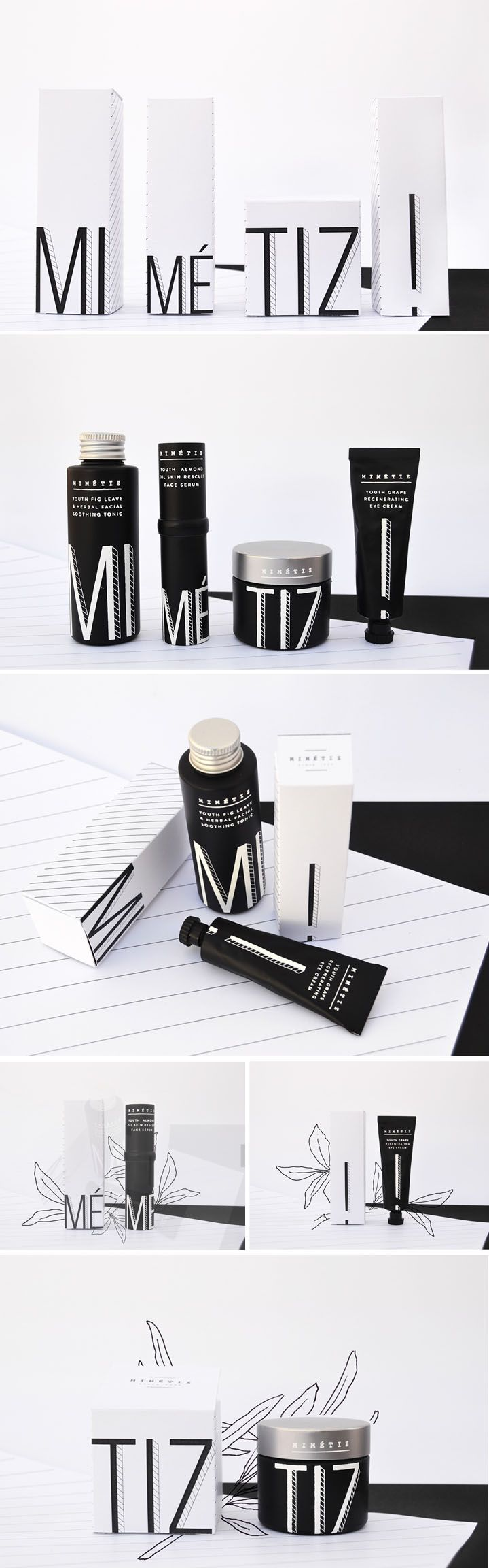 Minimalist Mimétiz Luxury Cosmetic Packaging Design