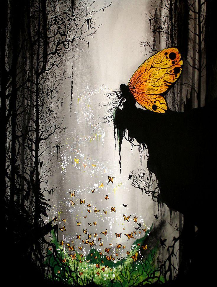 Butterfly Fairy Art #art #butterfly #fairy