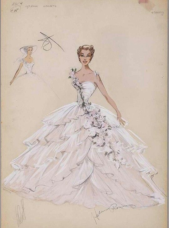 Esther Williams costume sketch by Helen Rose