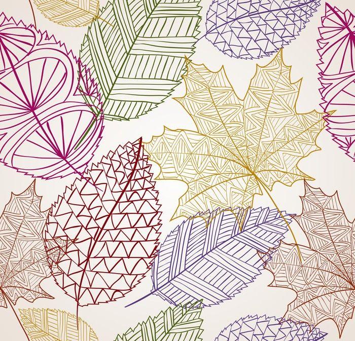 Vintage autumn leaves seamless pattern background. EPS10 file ...